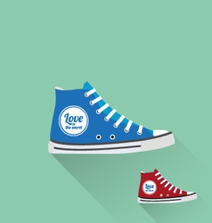 tennis shoes vector image