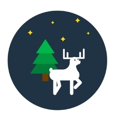 Deer flat style vector