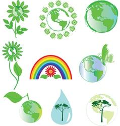 environmental symbols vector image vector image