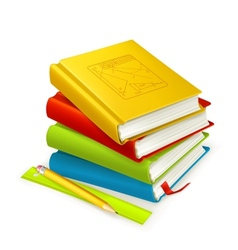 Stack of textbooks vector image vector image