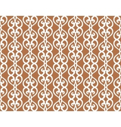White Forged Lacing Seamless pattern on brown vector image