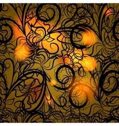 Autumn black lace vector image vector image