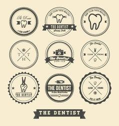 Dentist Label Design vector image
