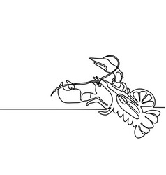 grilled lobster continuous line drawing vector image vector image