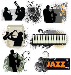 Grunge Jazz banners vector image vector image