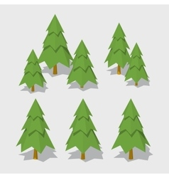 Cube World Spruce vector image vector image