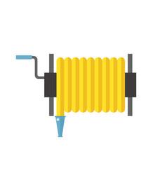 fire hose reel metal pressure vector image