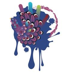 Hand Turkey Bird6 vector image vector image