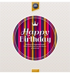 Happy birthday greeting card lettering on vector image vector image