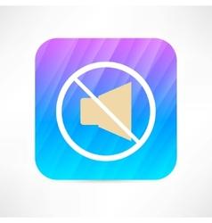 mute icon vector image vector image