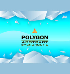 polygon concept design abstract background vector image vector image