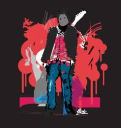 Rock'n'Roll man vector image vector image