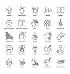 25 business concept mix line icon set vector image