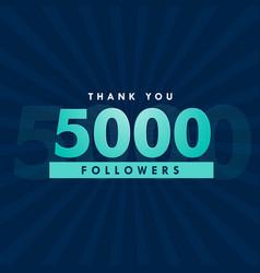 5000 social media followers template design vector