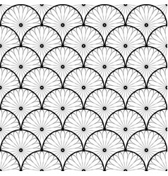 abstract seamless flowers black and white pattern vector image