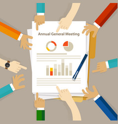 Agm annual general meeting shareholder board vector