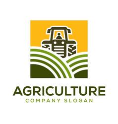 Agriculture logo design idea vector