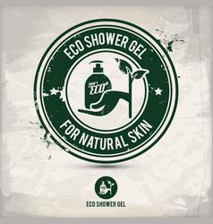 Alternative eco friendly shower gel stamp vector