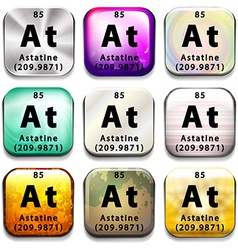 An icon with the chemical element astatine vector