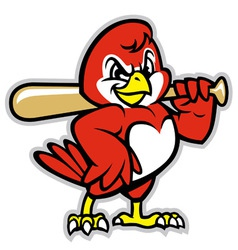 Baseball bird mascot vector