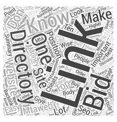 Bidding Directories Word Cloud Concept vector