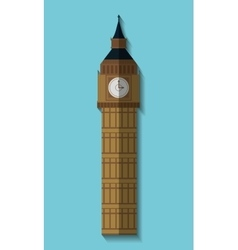 Big ben london england design vector