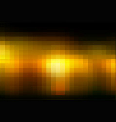 Black orange yellow mosaic square tiles background vector