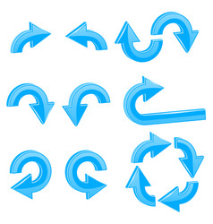 blue 3d arrows different directions vector image