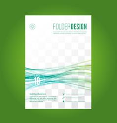 Blue swoosh lines folder design layout vector