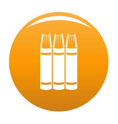 book pile icon orange vector image