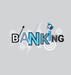 business banking and finance web banner abstract vector image