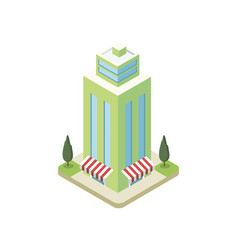 commercial skyscraper tower isometric 3d icon vector image