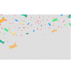 Confetti elements falling on transparent vector