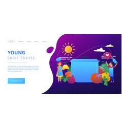 Cooking camp concept landing page vector