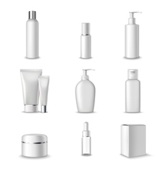 Cosmetics Packages Set vector image