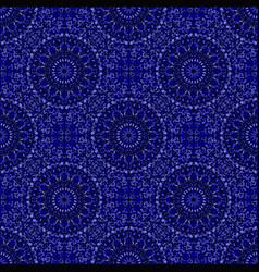 Dark blue bohemian geometrical mandala ornament vector