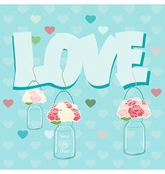 Declaration of Love card design vector