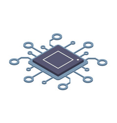 didgital technology computer or server processor vector image