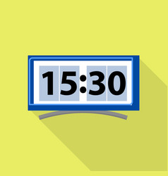 digital clock icon flat style vector image