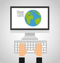 Earth planet design vector