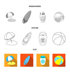 Equipment and swimming logo vector