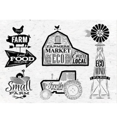Farm vintage vector