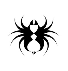 Fierce tarantula black and white logo vector