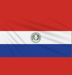 Flag paraguay - front side swaying in wind vector