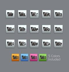 Folder icons - 2 of 2 - satinbox series vector