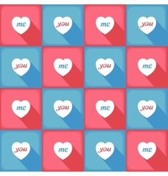 Funny pop-art pattern for love vector image