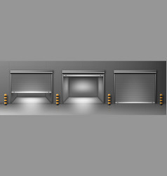 gate with rolling shutter in garage vector image