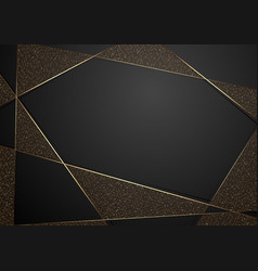 gold and black abstract luxury background vector image