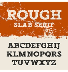 Grunge Slab Serif 001 vector image