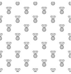 hockey champion medal pattern seamless vector image